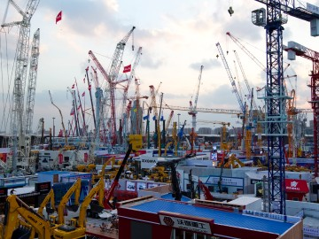 bauma China will fill all 17 halls and the outdoor area at the Shanghai New International Expo Centre (SNIEC): in total 300,000 sqm of exhibition space.